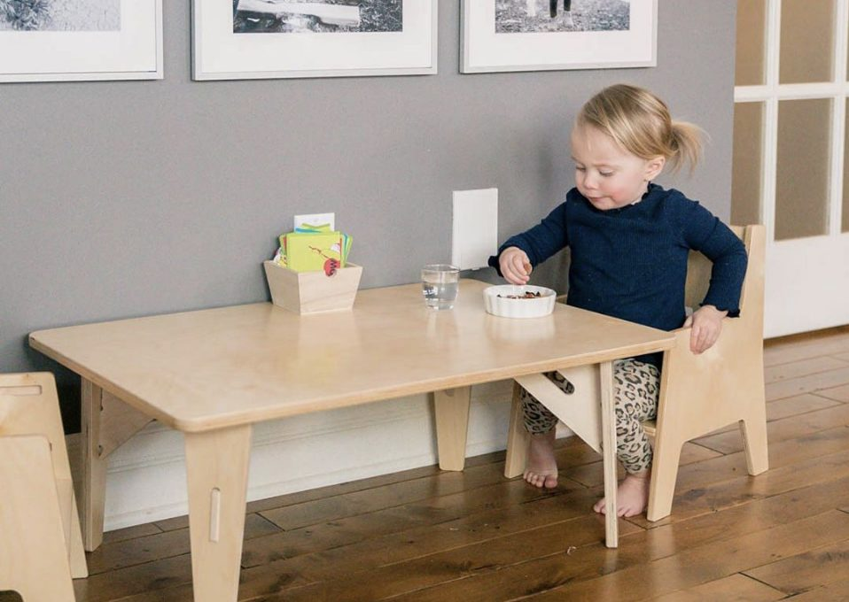 Montessori Weaning Table and Chair Set