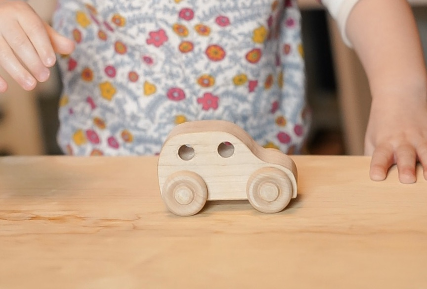 Montessori Wooden Car