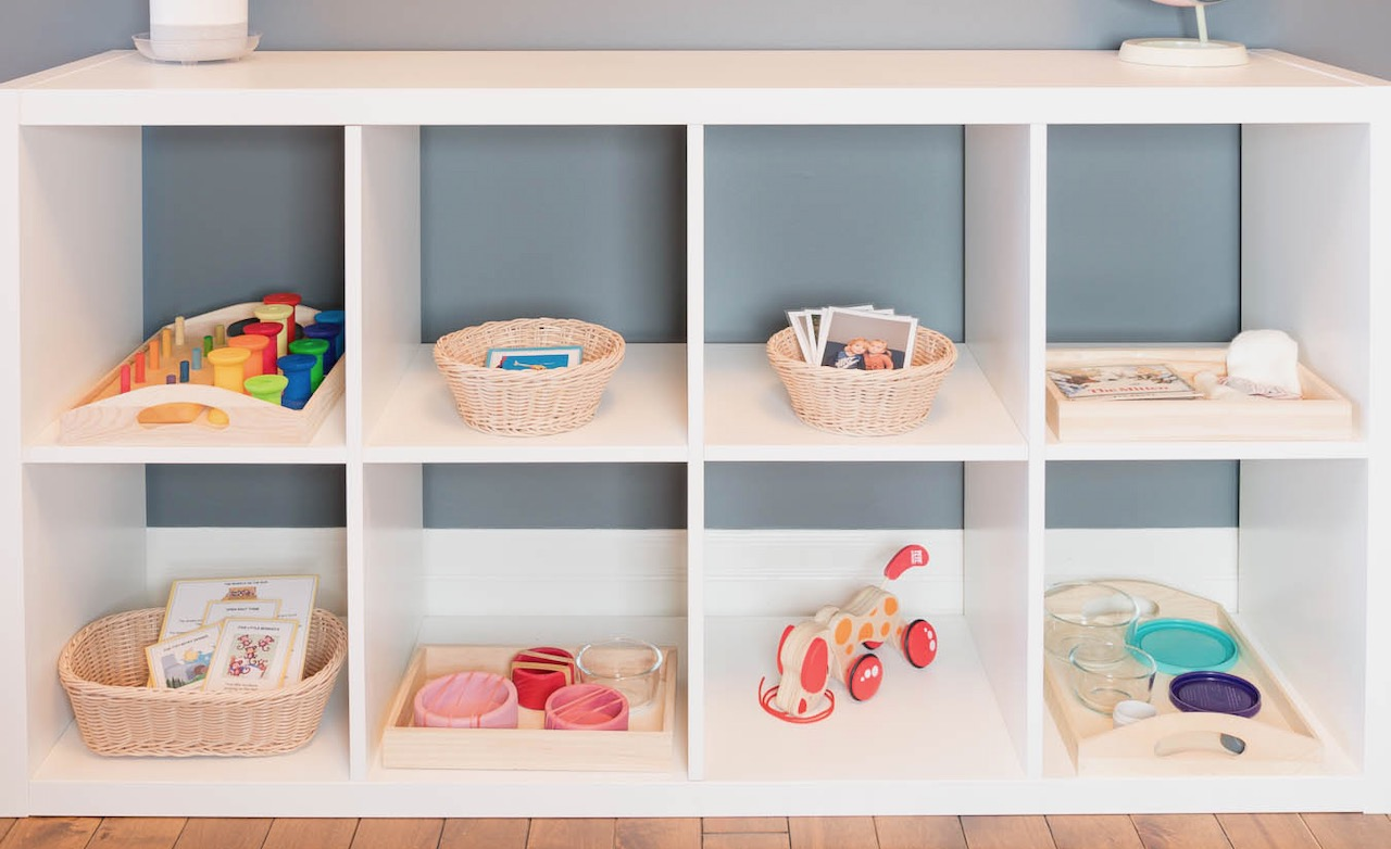 Montessori Toy Shelf For 1 Year Old