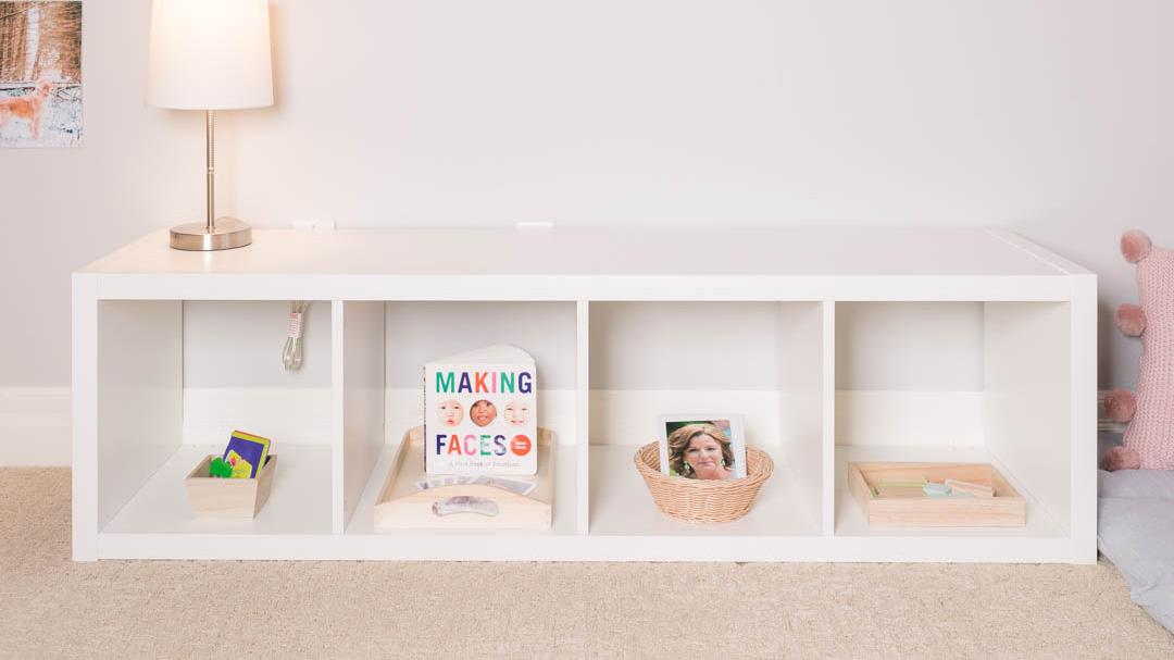 IKEA Montessori Bedroom Shelf